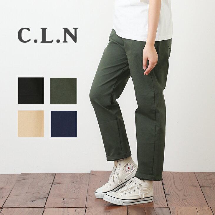 C.L.N(シーエルエヌ) ツイルデーパードレギンスパンツ(4色) 【TAG】【PL】【ストレッチ】