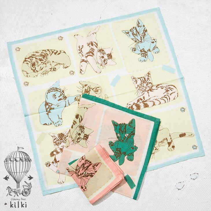【セール除外商品】KILKI (キルキー) ハンカチ ハウスキャット (3色)【レディース】【TAG】【PL】