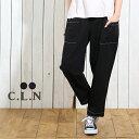 C.L.N(シーエルエヌ) インディゴインレイポケット付パンツ (2色)【レディース】【PL】