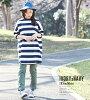 Horizontal stripe tunic / cube sugar evo. (キューブシュガーエボ) a WEB-limited horizontal stripe dolman six minutes sleeve tunic (three colors): Lady's tops T-shirt big horizontal stripe short-sleeved crew neck big silhouette