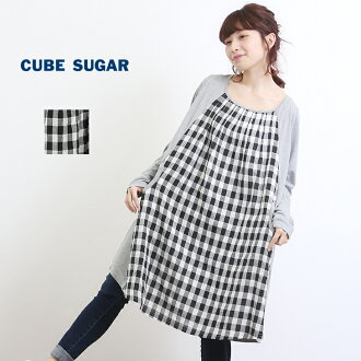 1d6eef0201 and CUBE SUGAR  3 28upCUBE SUGAR online shop-limited check tunic (one  color)
