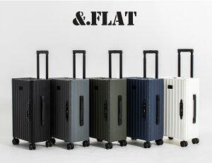 &.FLAT 折り畳めるキャリーケース 片面開き 35L マットカラー キャリーケース ビジネスキャリー スーツケース 機内持ち込み TSAロック付き キャリーバッグ 折りたたみ式 アンドフラット &フラ