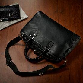 【再々々入荷】本革 ビジネスバッグ 2way レザー 革 軽い銀付き ビジネス メンズ バッグ ショルダー メンズバッグ 吟面 銀面 軽い 軽量 ブリーフケース コスパ 革製品 機能性 使い勝手 カバン 鞄 バッグ