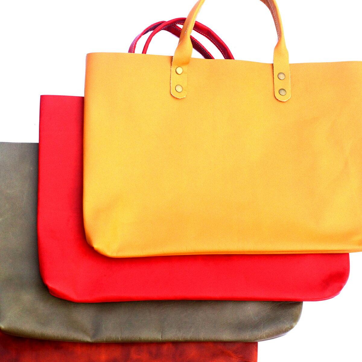 """本革 バッグ ハンドバッグ トートバッグ A4 a4 レザー 革 工場直送 はぎれ 鞄 カバン 手提げ バッグ バック レディース メンズ 製造現場の""""もったいない""""から生まれたバッグ 余剰品"""