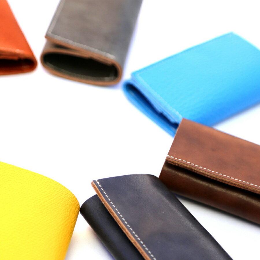 本革 財布 ウォレット コンパクト 薄い 小さい 軽い さいふ 三つ折り 小銭入れ コインケースはぎれ 革 レザー ハギレ メンズ レディース 男性 女性 小さい財布 ミニ財布 極小財布
