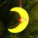 月のオーナメント(黄)【クリスマスオーナメント】