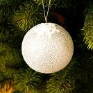 スノーフレイクボール「シルバー」【クリスマスオーナメントボール】