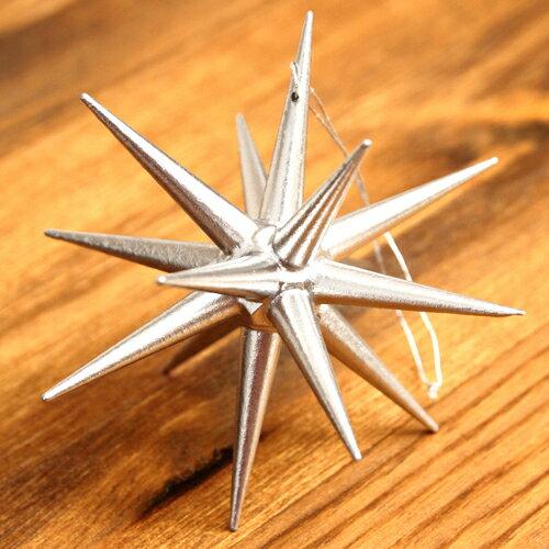 銀の星 立体(大)【ベツレヘムの星(ドイツ/Albin Preissler)】