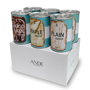 デニッシュ缶「3種(プレーン・メープル・ショコラーデ)」各2個 6缶セット デニッシュパンの缶詰