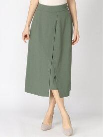 [Rakuten Fashion]【SALE/65%OFF】ムジガラスリットSK Andemiu アンデミュウ スカート 台形スカート/コクーンスカート グリーン グレー ベージュ【RBA_E】
