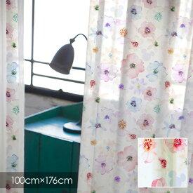 【ポイント10倍★割引クーポン配布中】 ディズニー レースカーテン Disney MICKEY ミッキー Aroma / アロマ 100×176cm (1枚入り) 【ウォッシャブル/シアーカーテン/花柄/ホワイト/ピンク】