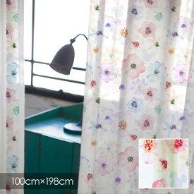 【ポイント10倍★割引クーポン配布中】 ディズニー レースカーテン Disney MICKEY ミッキー Aroma / アロマ 100×198cm (1枚入り) 【ウォッシャブル/シアーカーテン/花柄/ホワイト/ピンク】