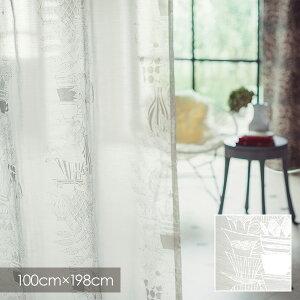 DisneyアリスTeacup/ティーカップ100×198cm(メーカー別送品)【ウォッシャブル/レースカーテン/テーブルウェア/ホワイト】