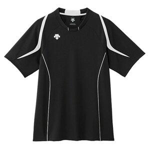 デサント(DESCENTE) H/S LIBHT GAME SHIRT  半袖ライトゲームシャツ DSS5520 バレーボール ブラク/ホワイト 15SS