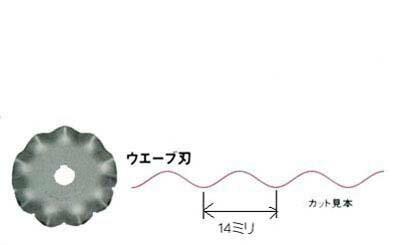 オルファ(OLFA)ロータリーカッター用ウェーブ刃(1枚入/45ミリ刃)【ヤマト・メール便での発送OK】