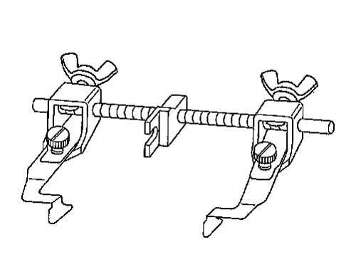 ニッポー ガイド前後調整式ステッチ定規(左右兼用):NG-2000W【ヤマト・メール便での発送OK】