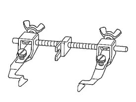 ニッポー ガイド前後調整式ステッチ定規(左右兼用):NG-2000W【メール便での発送OK】