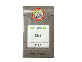 皮革などの縫製に適している溶着防止ミシン針「オルガン針 DB*1LP(10本入)」 【メール便での発送OK】