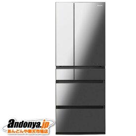 《送料区分F》パナソニック IoT対応冷蔵庫 NR-F607WPX-X [オニキスミラー](ミラー加工)