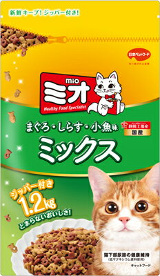 日本ペット ミオ ドライミックス まぐろ味 1.2kg