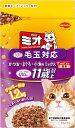 【期間限定】日本ペット ミオ ドライミックス 毛玉対応 11歳以上かつお味 1.2kg