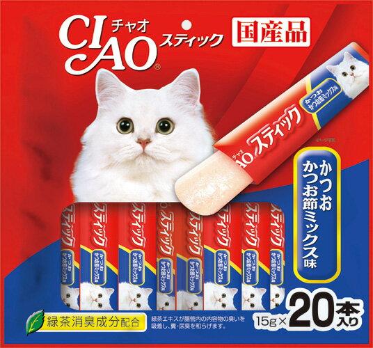 いなば CIAOスティック かつお かつお節ミックス味 20本入り(15gx20本) SC-203
