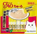 いなば CIAOちゅ〜る 総合栄養食 とりささみ 海鮮ミックス味 20本入り(14gx20本) SC-200
