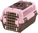 リッチェル キャンピングキャリー ダブルドアS 超小型犬・猫用 ライトピンク