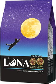 ペットライン LUNA かつお節&ほたて味とチキン味ビッツ添え 720g LN-4