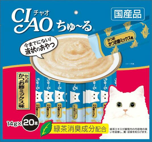 いなば CIAOちゅ〜る かつお かつお節ミックス味 20本入り(14gx20本) SC-130
