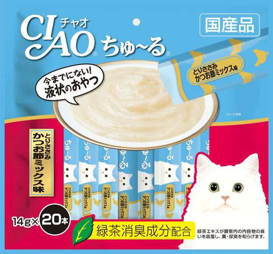 いなば CIAOちゅ〜る とりささみ かつお節ミックス味 20本入り(14gx20本) SC-193
