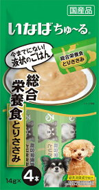 いなば ちゅ〜る 総合栄養食 とりささみ 4本入り(14gx4本) D-105