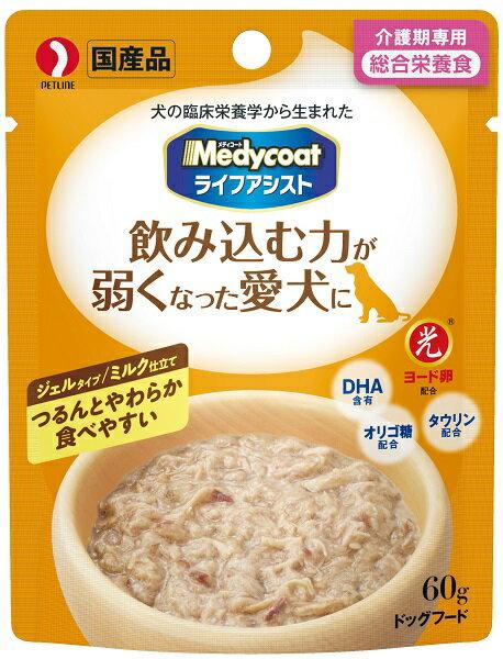 ペットライン メディコート ライフアシスト ジェルタイプ ミルク仕立て 60g×★6個★ MCL-2