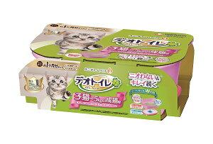 ユニチャーム デオトイレ 子猫〜5kgの成猫用 本体セット ツートンピンク