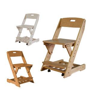 学習チェア グローアップチェア 椅子 グローアップチェアー ジュニアチェア チェア 木製チェア キッズチェア キッズチェアー 360度回転 キャスター付き 高さ調整 無垢材 子供用 白 ホワイト