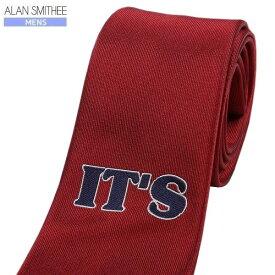 ■SALE70%OFF【ALAN SMITHEE】アランスミシー 日本製 IT'S シルクネクタイ 赤『18/3/2』080318【ネコポスで送料無料】