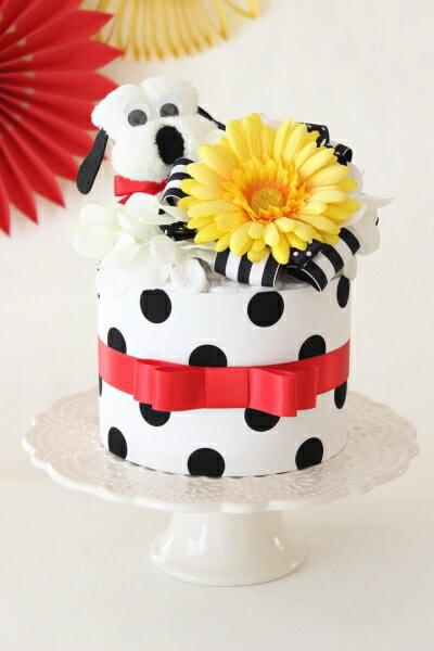 Pois chien/ポワ シヤン ペットシーツケーキ ペットシーツ おむつケーキ お誕生日 バースデー お祝い パーティー プレゼント ギフト 贈り物 ペット ユニ・チャームペット デオシート レギュラー使用 オリジナル Ange