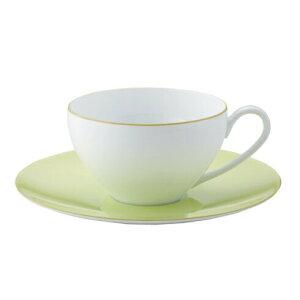 Noritake(ノリタケ) アルタコレクション ティーカップ&ソーサー Alta Pistachio 94989C/1680 ニュアンスカラー 紅茶 ハーブ