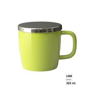FOR LIFE デューブリューインマグ Lime 325ml 細な穴の大型ステンレス製インフューザー 茶器 紅茶 お茶 ハーブ シンプル おしゃれ