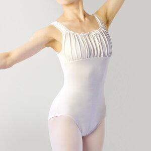 (子供XL〜大人サイズ) エンジェルコレクション タンクレオタードP02【日本製 バレエ 可愛い 動きやすい 白 黒 ホワイト ブラック ピンク 練習着 無地 レッスンウエア 初心者 ジュニア リボン