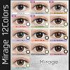 不要一次性的药方没有Mirage(miraju)月刊YURINO有色隐形眼镜/度的1箱2张装1个月14.5mm 14.8mm 1month mirage tutti Happiness E-girls 1个月