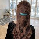 7カラー選べる ヘアバレッタ シンプルデザイン ヘアピン  ヘアアクセサリー 髪留め ヘアアレンジ シンプル パッチン…