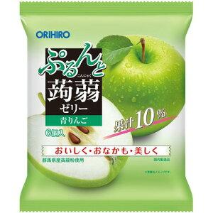 【食品】【2021年2月下旬頃終売予定】ぷるんと蒟蒻ゼリーパウチ 青りんご 120g(20g×6個)