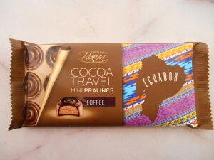 【輸入FOOD】COCOA TRAVEL coffee ミニプラリネコーヒー チョコレート 内容量:100g