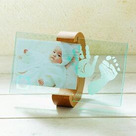 【ちあき工房】ムーン フォトスタンド 【赤ちゃん メモリアル メモリー 記念品 内祝い ギフト 手形 足型 フォトフレーム 写真入れ】クリア 月 女の子 男の子