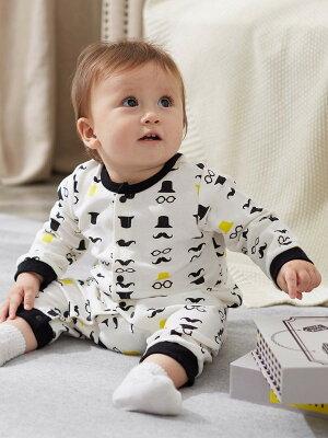 【ベビー】 【Kiltti】ギフトブックBOX付ひげロンパース&スタイセット 【ベビー 赤ちゃん ベビー服 男の子 おとこのこ ウェア ウエア セット】
