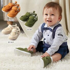 【ポイント5倍】【ベビー】 【OCEAN&GROUND】ベビーベルクロシューズ 【ベビー 赤ちゃん ベビーシューズ 男の子 おとこのこ 女の子 おんなのこ ベビー靴 くつ】