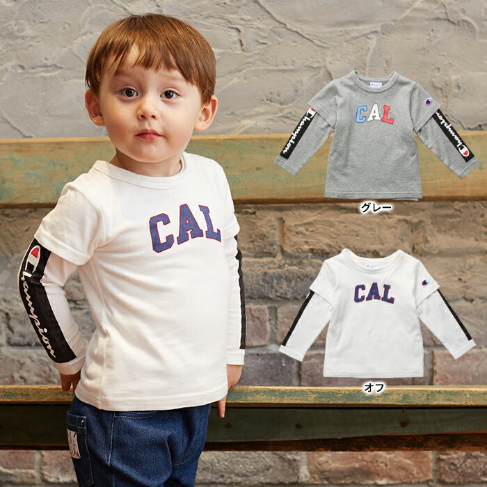 【ベビー】【F.O.KIDS】チャンピオンコラボTシャツ2枚セット【ベビー 赤ちゃん ベビー服 男の子 女の子 おとこのこ おんなのこ ウェア ウエア トップス】