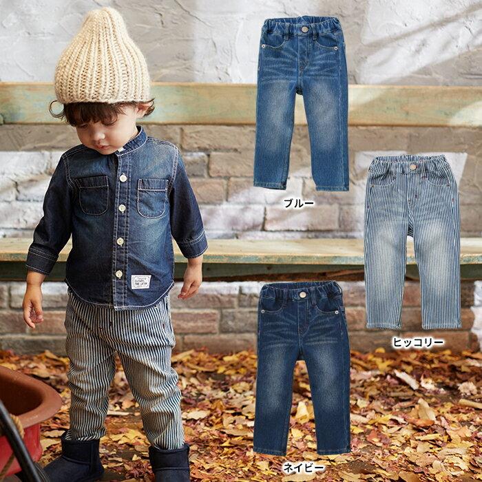 【ベビー】【F.O.KIDS】スタンダードデニムパンツ【ベビー 赤ちゃん ベビー服 ベビーウェア 男の子 女の子 おとこのこ おんなのこ ズボン ずぼん ボトム ズボン】