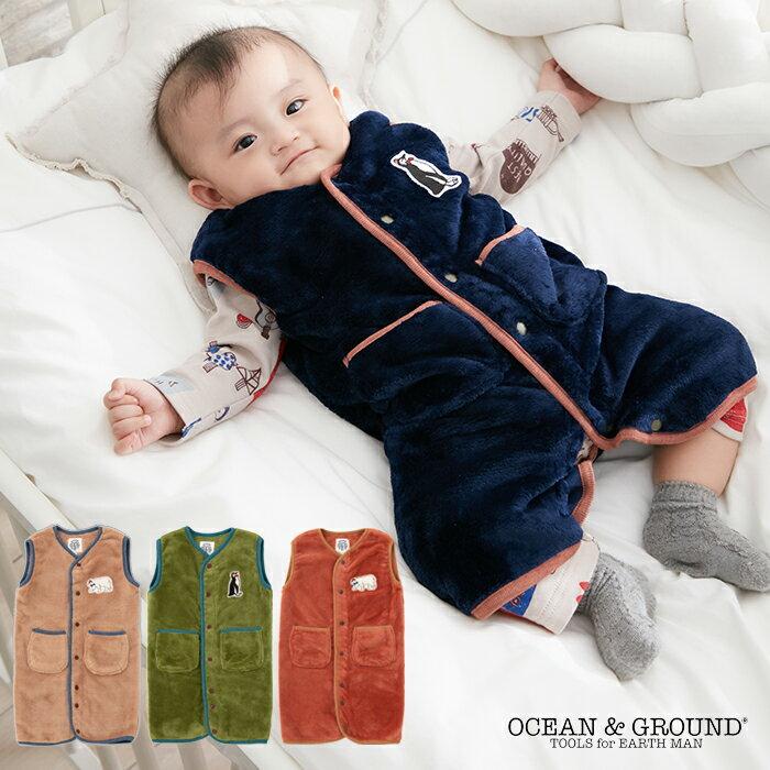 【ベビー】【OCEAN&GROUND】ベビーフリーススリーパー【赤ちゃん ねんね 寝袋 あったか 暖か 寝冷え防止 男の子 女の子】